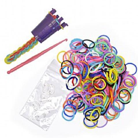 Sada pro pletení gumičkových náramků s pletacím kalíškem