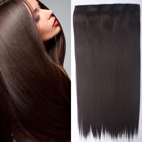 Clip in vlasy - 60 cm dlouhý pás vlasů - odstín 4