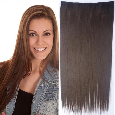 Clip in vlasy - 60 cm dlouhý pás vlasů - odstín 8