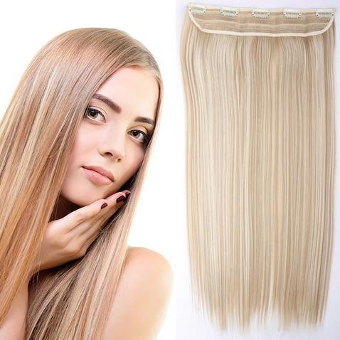 Clip in vlasy - 60 cm dlouhý pás vlasů - odstín F18/613