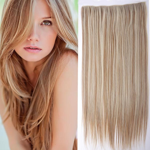 Clip in vlasy - 60 cm dlouhý pás vlasů - odstín F27/613