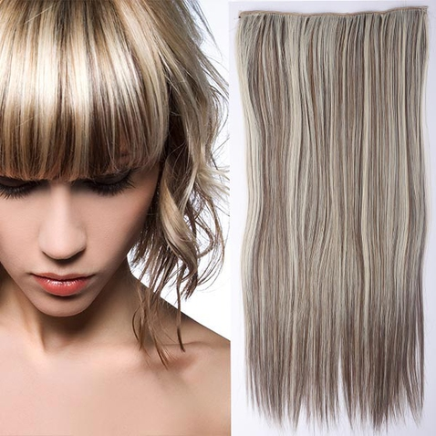 Clip in vlasy - 60 cm dlouhý pás vlasů - odstín F8/613