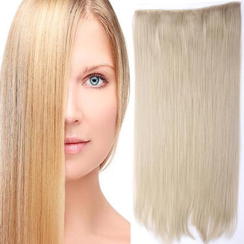 Clip in vlasy - 60 cm dlouhý pás vlasů - odstín 24