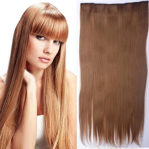 Clip in vlasy - 60 cm dlouhý pás vlasů - odstín 27