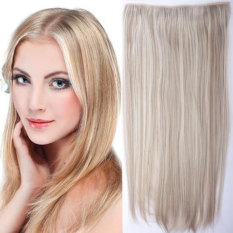 Clip in vlasy - 60 cm dlouhý pás vlasů - odstín F16/613