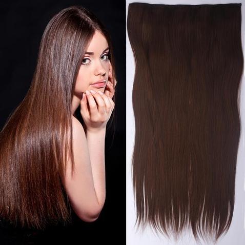 Clip in vlasy - 60 cm dlouhý pás vlasů - odstín M4/30