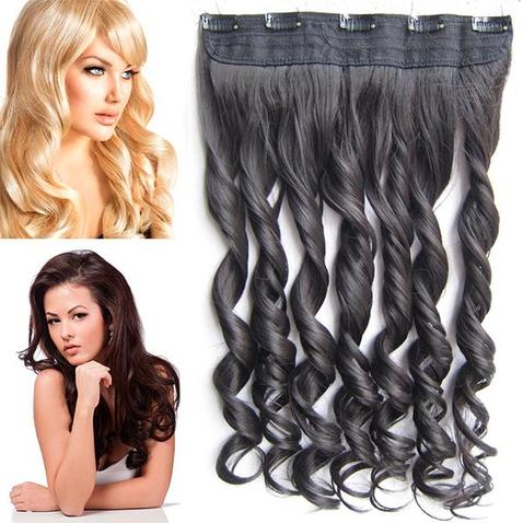 Clip in pás vlasů - lokny 55 cm - odstín 2