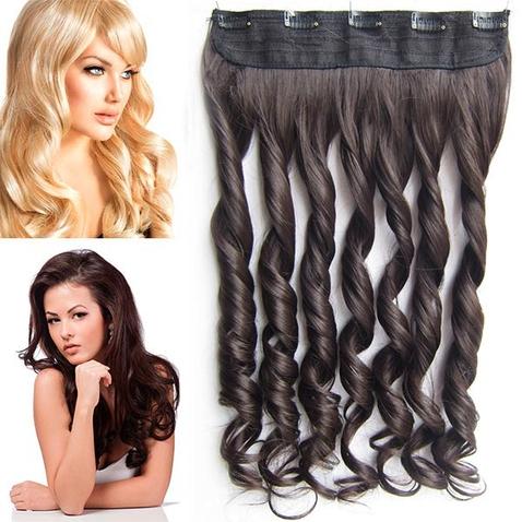 Clip in pás vlasů - lokny 55 cm - odstín 6