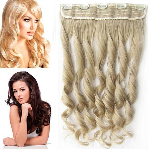 Clip in pás vlasů - lokny 55 cm - odstín 24