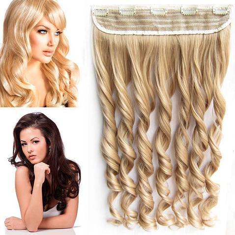 Clip in pás vlasů - lokny 55 cm - odstín 18