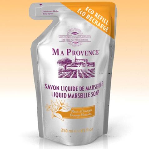 Bio mýdlo tekuté Marseille Pomeranč - náhradní náplň 250 ml