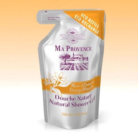 Bio sprchový gel Ma Provence Pomeranč - náhradní náplň 250 ml