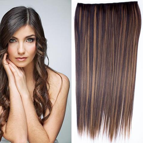 Clip in vlasy - 60 cm dlouhý pás vlasů - odstín F2/27