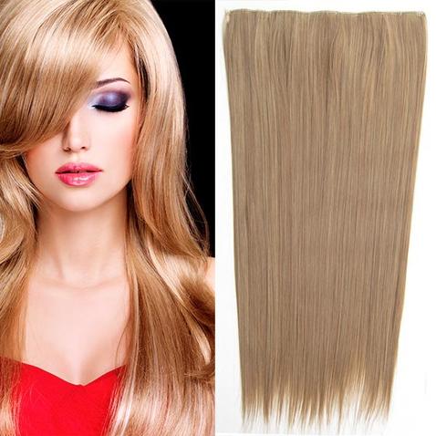 Clip in vlasy - 60 cm dlouhý pás vlasů - odstín M12/24