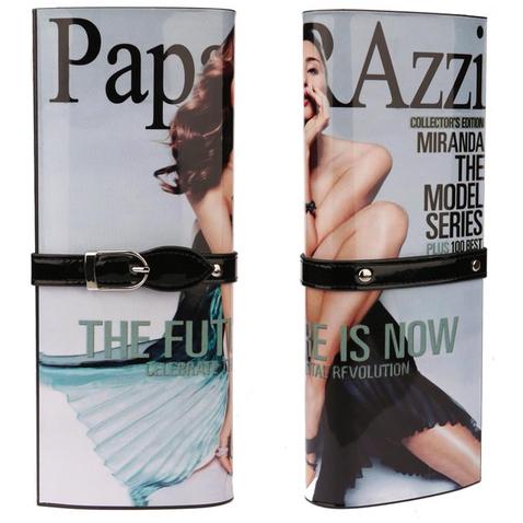Kabelka - psaníčko - design módního časopisu - černá Paparazzi