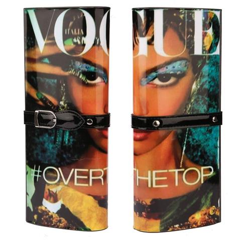 Kabelka - psaníčko - design módního časopisu - černá Vogue