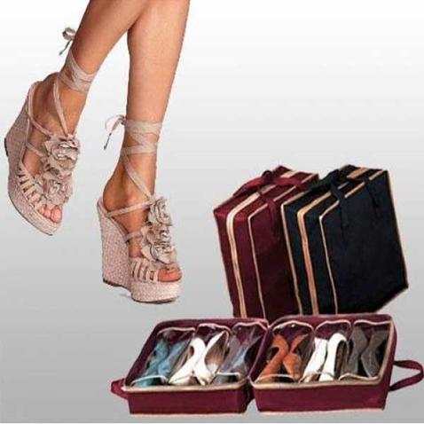 Přenosný organizér na boty - 6 párů