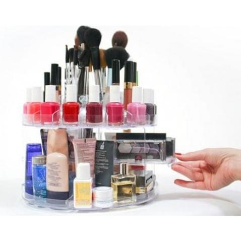Otočný organizér na kosmetiku