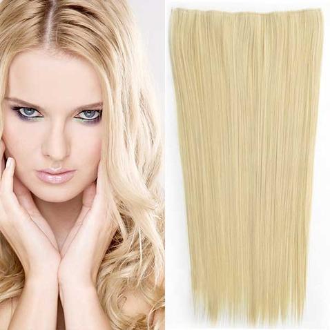 Clip in vlasy - 60 cm dlouhý pás vlasů - odstín M22/613