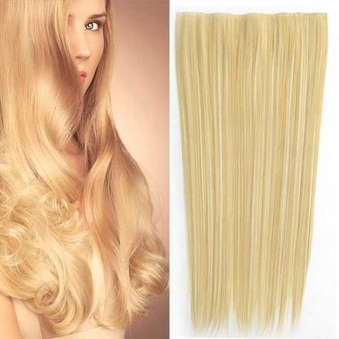 Clip in vlasy - 60 cm dlouhý pás vlasů - odstín F613/22