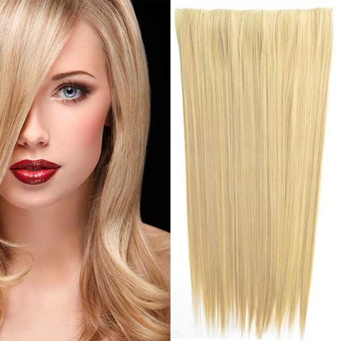 Clip in vlasy - 60 cm dlouhý pás vlasů - odstín F16/22