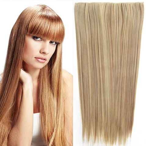 Clip in vlasy - 60 cm dlouhý pás vlasů - odstín F12/24