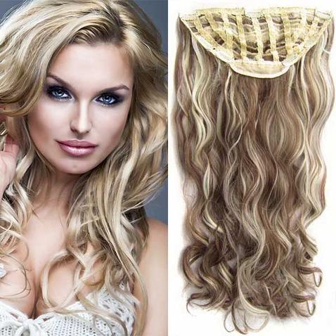 Clip in pás vlasů - Jessica 60 cm vlnitý - odstín F613/8