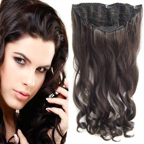 Clip in pás vlasů - Jessica 60 cm vlnitý - odstín 6