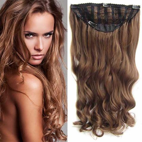 Clip in pás vlasů - Jessica 60 cm vlnitý - odstín 10