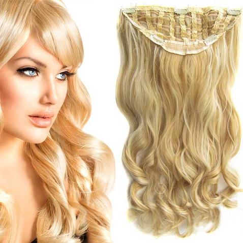 Clip in pás vlasů - Jessica 60 cm vlnitý - odstín F613/22