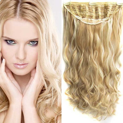 Clip in pás vlasů - Jessica 60 cm vlnitý - odstín F613/18