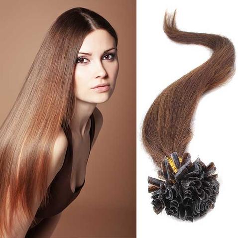 Vlasy keratin kvalita Remy AAA 51 cm, 100 ks - odstín 4