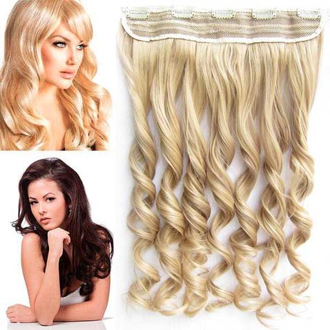 Clip in pás vlasů - lokny 55 cm - odstín F16/22