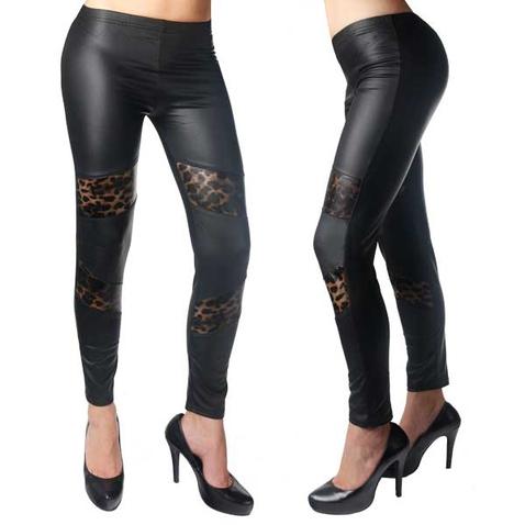 Legíny - vzhled kůže s gepardími záplatami