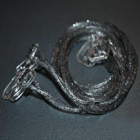 Silikonová ramínka k podprsence Makaron - šedá s glitrama