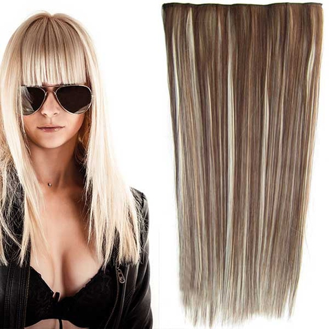 Clip in vlasy - 60 cm dlouhý pás vlasů - odstín F613/8