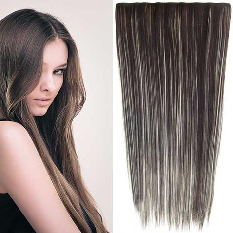Clip in vlasy - 60 cm dlouhý pás vlasů - odstín F613/6