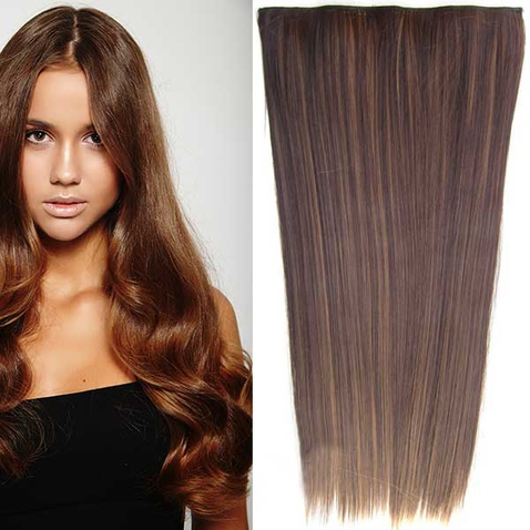 Clip in vlasy - 60 cm dlouhý pás vlasů - odstín F6A/4