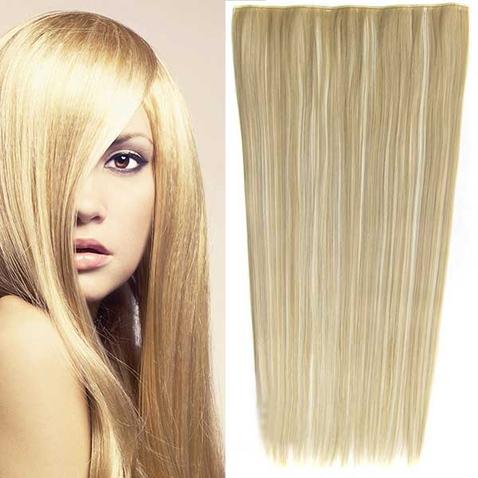 Clip in vlasy - 60 cm dlouhý pás vlasů - odstín F613/24