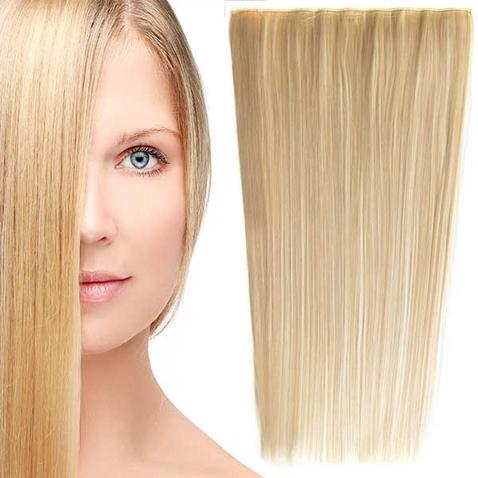 Clip in vlasy - 60 cm dlouhý pás vlasů - odstín F613/18