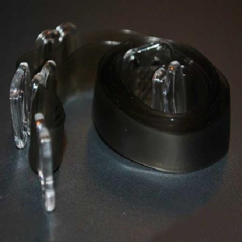 Silikonová ramínka k podprsence - průhledně kávová
