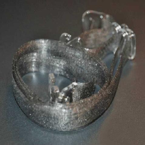 Silikonová ramínka k podprsence - průhledně stříbrná