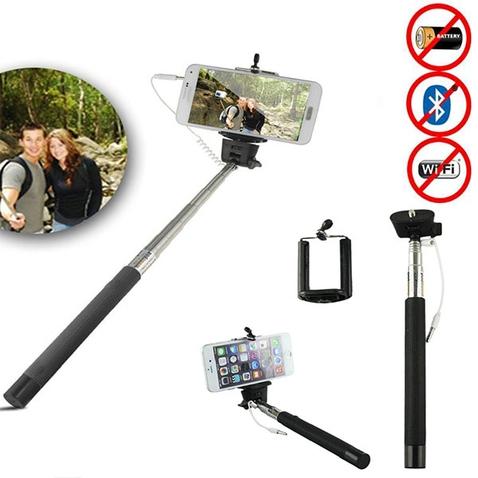 Teleskopická selfie tyč se spouští