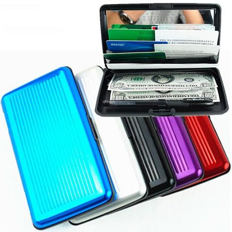 Velké pouzdro na doklady a platební karty Aluma Wallet