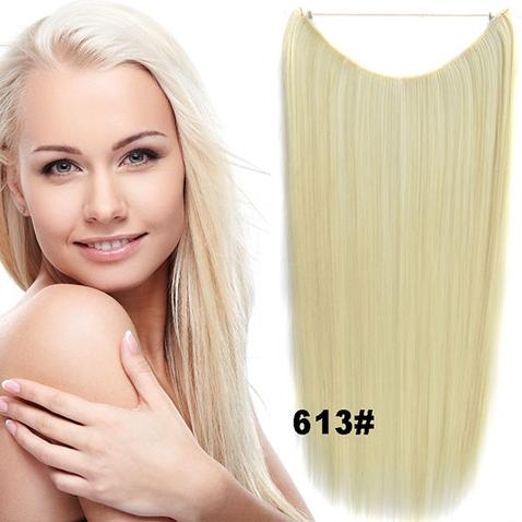 Flip in vlasy - 55 cm dlouhý pás vlasů - odstín 613