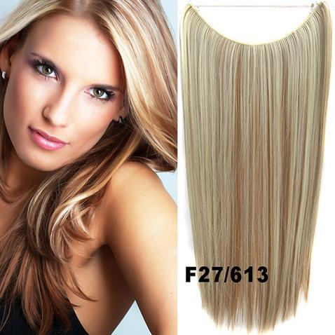 Flip in vlasy - 55 cm dlouhý pás vlasů - odstín F27/613