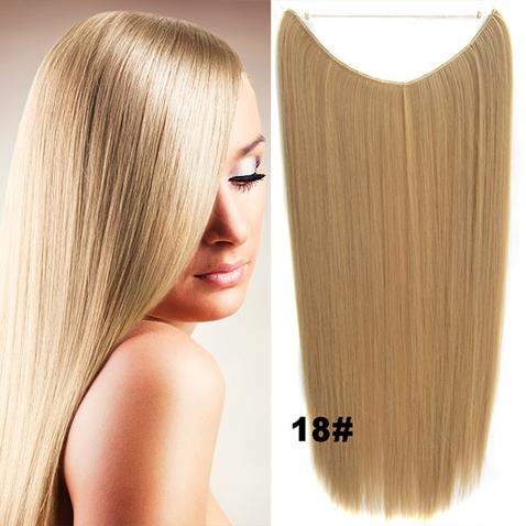 Flip in vlasy - 55 cm dlouhý pás vlasů - odstín 18