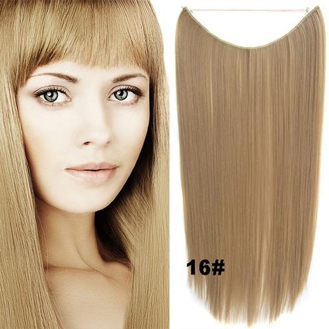 Flip in vlasy - 55 cm dlouhý pás vlasů - odstín 16
