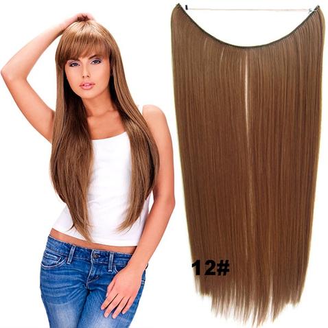 Flip in vlasy - 55 cm dlouhý pás vlasů - odstín 12