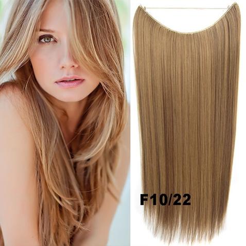Flip in vlasy - 55 cm dlouhý pás vlasů - odstín F10/22